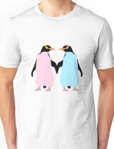 Pastel Penguins holding hands Unisex T-Shirt