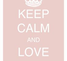 Keep calm and love birds - Chintz rose by Atelier-mediA