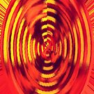 Concentric Circles in Red & Yellow by Buckwhite
