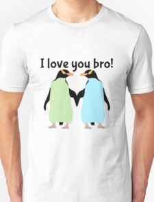 Gay Penguins | I Love you bro! Unisex T-Shirt
