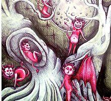 dancing devils  by melaniedann