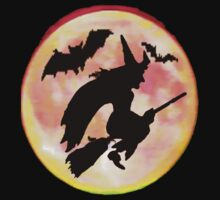 Witch and Bats Tee by MaeBelle