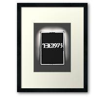THE 1975 - ALBUM GREY Framed Print
