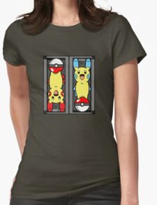Poke-Batteries  Womens Fitted T-Shirt