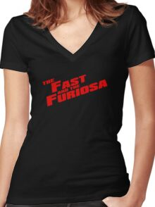 The Fast and the Furiosa  Women's Fitted V-Neck T-Shirt