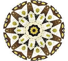 gold leaf circus mandala Photographic Print
