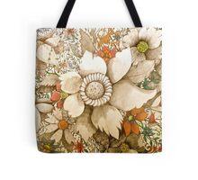 vintage coloured flowers Tote Bag