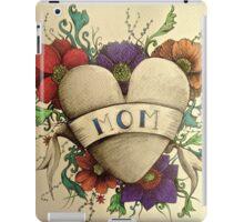 mom mum vintage heart tattoo  iPad Case/Skin