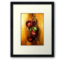 Apples....A Still Life.. Framed Print