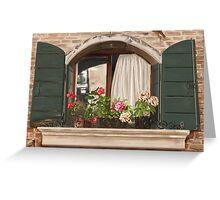 Italian window Greeting Card