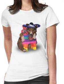 Mexican Dog Womens Fitted T-Shirt