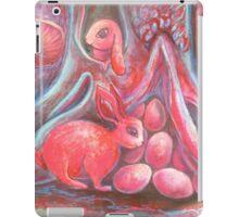 blood moon easter rabbits iPad Case/Skin