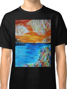 Sunset and Flowers Classic T-Shirt