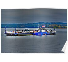 Ferry On Lake Champlain Poster