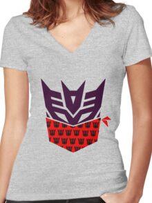 Deceptirado Women's Fitted V-Neck T-Shirt