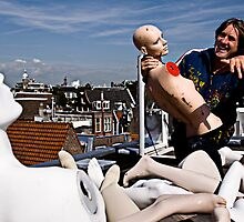 Art & The Artist - atop an Amsterdam rooftop by JimFilmer