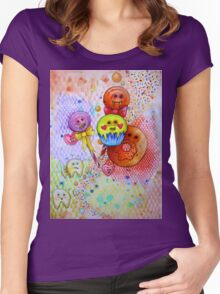 sugar rush scary candy  Women's Fitted Scoop T-Shirt
