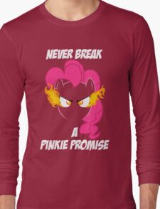Never Break a Pinkie Promise (WHITE TEXT) Long Sleeve T-Shirt