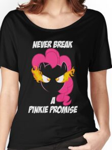 Never Break a Pinkie Promise (WHITE TEXT) Women's Relaxed Fit T-Shirt