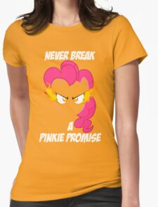 Never Break a Pinkie Promise (WHITE TEXT) Womens Fitted T-Shirt