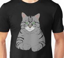 Thinking Cat with glasses Unisex T-Shirt