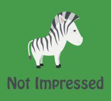 Not Impressed Zebra One Piece - Short Sleeve