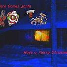 Santa, Christmas card by MaeBelle