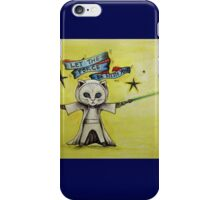 the force star kitty lightsaber  iPhone Case/Skin