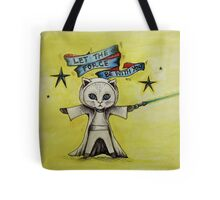 the force star kitty lightsaber  Tote Bag