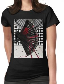 Hand Fan Womens Fitted T-Shirt