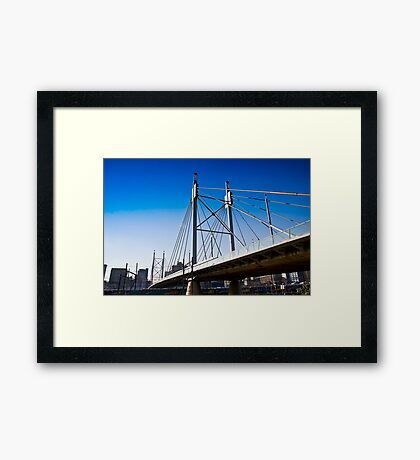 Nelson Mandela Bridge — Suspension Bridge & Walkway Framed Print