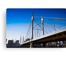 Nelson Mandela Bridge — Suspension Bridge & Walkway Canvas Print