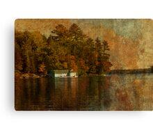 Muskoka Boat House Canvas Print