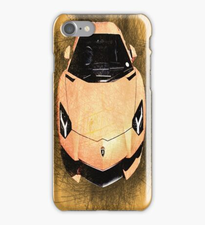 Orange Lambo iPhone Case/Skin