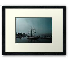 Shoreline Village Marina Port in Long Beach, California Framed Print
