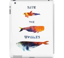 Save the Whales iPad Case/Skin