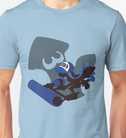 Dark Blue Female Inkling - Sunset Shores Unisex T-Shirt