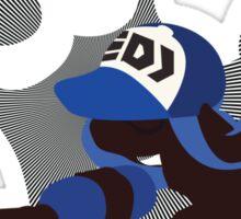 Dark Blue Female Inkling - Sunset Shores Sticker