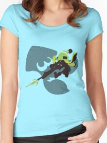 Light Green Female Inkling - Sunset Shores Women's Fitted Scoop T-Shirt