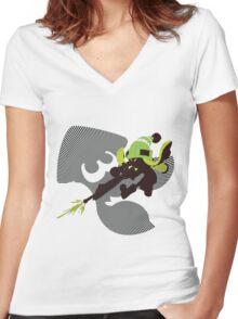 Light Green Female Inkling - Sunset Shores Women's Fitted V-Neck T-Shirt