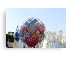 Small World Balloon Metal Print