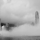 heavy foggy harbour by thousandsmile