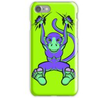 Monkey Trouble Purple and Green iPhone Case/Skin
