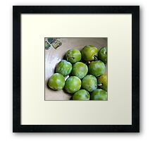 Greengages - The Pick of the Crop Framed Print