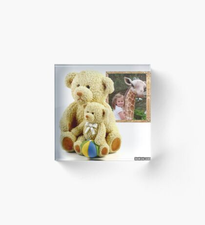 """""""I Can't 'bear' to be without you, Mr. Giraffe"""" Acrylic Block"""