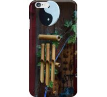 Tai Chi Yin Yang Bamboo Wind Chime iPhone Case/Skin