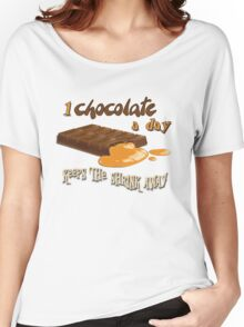 Chocolate - 1 chocolate a day... Women's Relaxed Fit T-Shirt