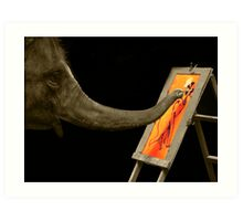He can paint better than me!! Art Print