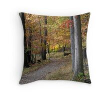 Michigan forest Throw Pillow