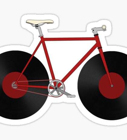 Record Fixie Sticker